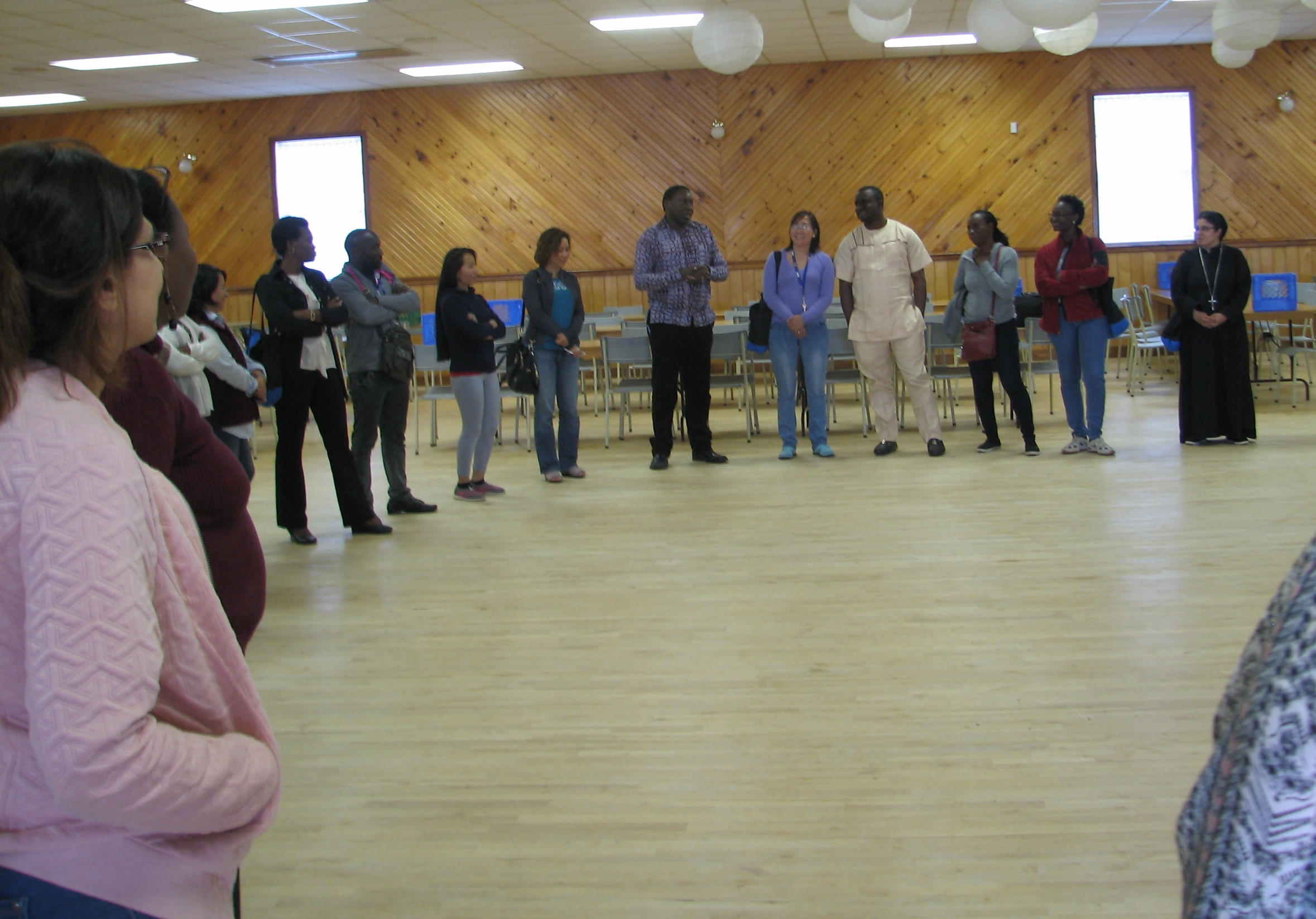 Coady Participants at community center
