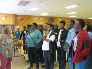 Coady participants at the community center