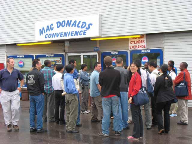 Coady visits MacDonalds Convenience