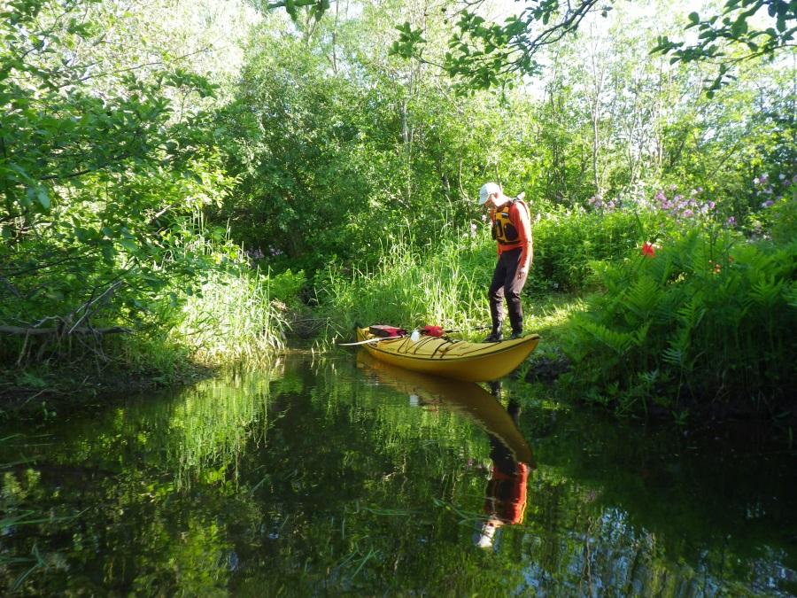 Spring Preparing to Kayak