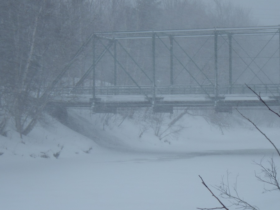 Winter Foggy Bridge