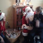Santa with helper Joan
